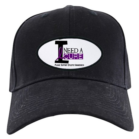 I Need A Cure EPILEPSY Black Cap