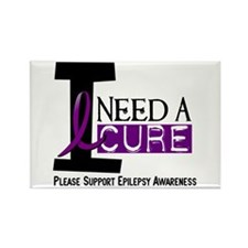 I Need A Cure EPILEPSY Rectangle Magnet (10 pack)