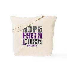 HOPE FAITH CURE Epilepsy Tote Bag