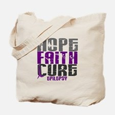 HOPE FAITH CURE Epilepsy Tote Bag