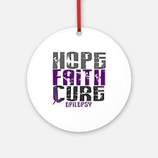 HOPE FAITH CURE Epilepsy Ornament (Round)