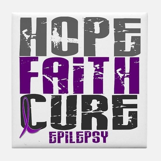 HOPE FAITH CURE Epilepsy Tile Coaster
