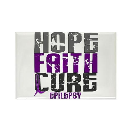 HOPE FAITH CURE Epilepsy Rectangle Magnet (100 pac