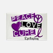 PEACE LOVE CURE Epilepsy (L1) Rectangle Magnet
