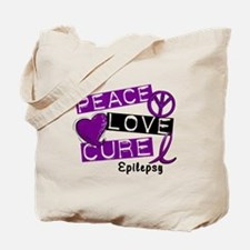 PEACE LOVE CURE Epilepsy (L1) Tote Bag