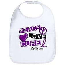 PEACE LOVE CURE Epilepsy (L1) Bib