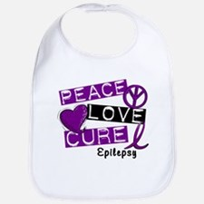 PEACE LOVE CURE Epilepsy (L1) Bib