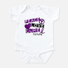 PEACE LOVE CURE Epilepsy (L1) Infant Bodysuit