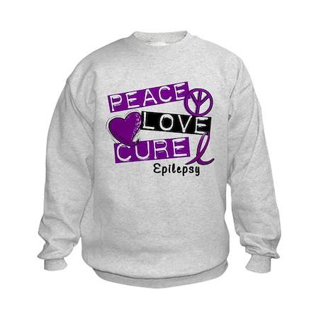 PEACE LOVE CURE Epilepsy (L1) Kids Sweatshirt