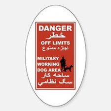 Danger Off Limits, Afghanistan Oval Decal