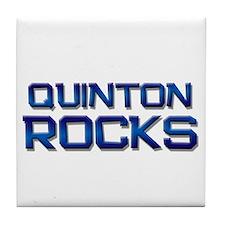quinton rocks Tile Coaster