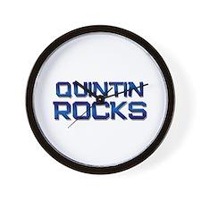 quintin rocks Wall Clock