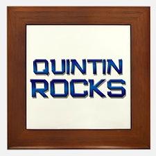 quintin rocks Framed Tile