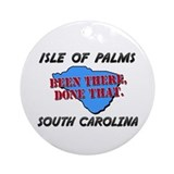Isle of palms Round Ornaments