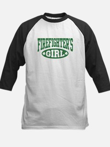 Irish Firefighter's Girl Kids Baseball Jersey