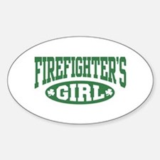 Irish Firefighter's Girl Oval Decal