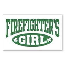 Irish Firefighter's Girl Rectangle Decal