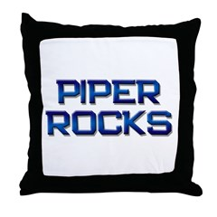piper rocks Throw Pillow