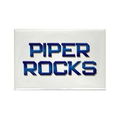 piper rocks Rectangle Magnet