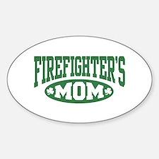 Irish Firefighter's Mom Oval Decal