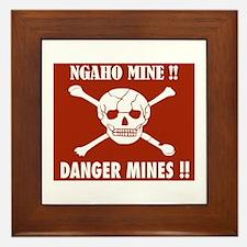 Danger Mines, Burundi Framed Tile