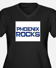 phoenix rocks Women's Plus Size V-Neck Dark T-Shir