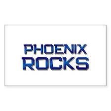 phoenix rocks Rectangle Decal