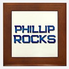 phillip rocks Framed Tile