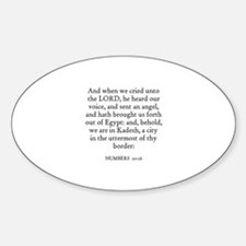 NUMBERS 20:16 Oval Decal