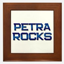 petra rocks Framed Tile