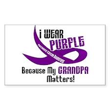 I Wear Purple (Grandpa) 33 PC Rectangle Decal