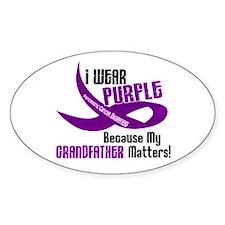 I Wear Purple (Grandfather) 33 PC Oval Decal
