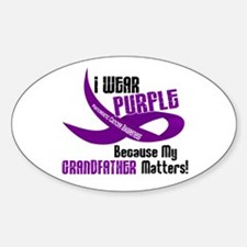 I Wear Purple (Grandfather) 33 PC Oval Decal