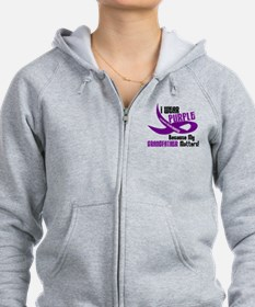 I Wear Purple (Grandfather) 33 PC Zip Hoodie