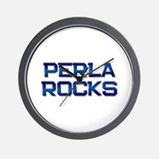 perla rocks Wall Clock
