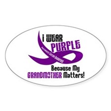 I Wear Purple (Grandmother) 33 PC Oval Decal