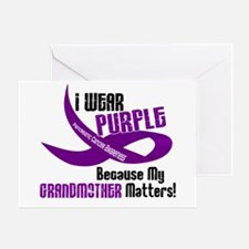 I Wear Purple (Grandmother) 33 PC Greeting Card