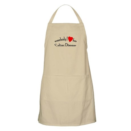 somebody I heart Celiac Dise BBQ Apron