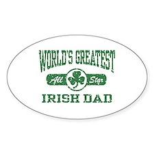 World's Greatest Irish Dad Oval Decal