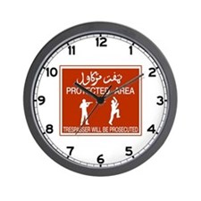 Protected Area, Brunei Wall Clock