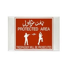 Protected Area, Brunei Rectangle Magnet