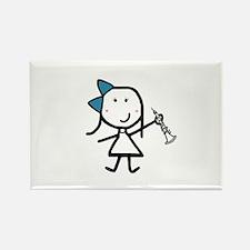 Girl & Oboe Rectangle Magnet