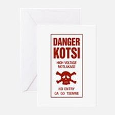 Danger High Voltage, Botswana Greeting Cards (Pk o