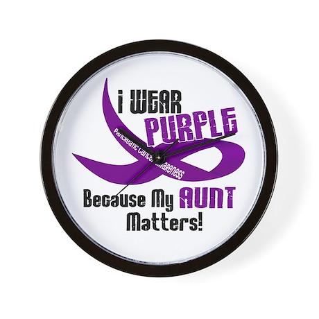I Wear Purple (Aunt) 33 PC Wall Clock