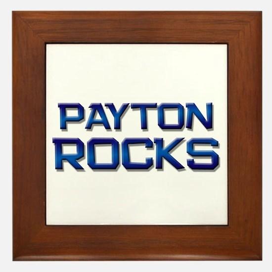 payton rocks Framed Tile
