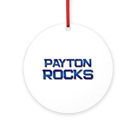 payton rocks Ornament (Round)