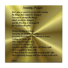 AA Serenity Prayer Tile Coaster