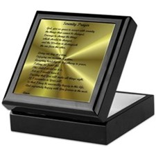 AA Serenity Prayer Keepsake Box