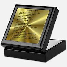AA Serenity Prayer Keepsake Box