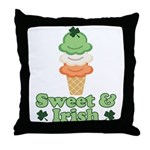 Sweet and Irish Throw Pillow